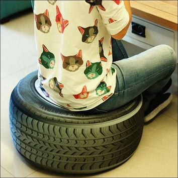 Car Tire Shaped 3D Cushion Pillow