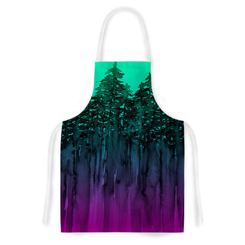 "Ebi Emporium ""Forest Through The Trees 9"" Purple Black Artistic Apron"