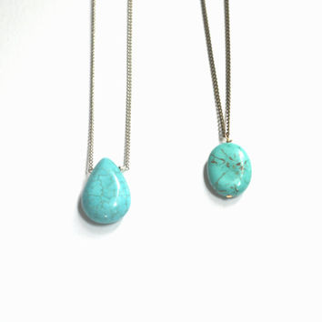 Long Turquoise Boho Necklace