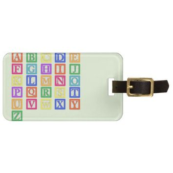 Block Letters Bag Tag