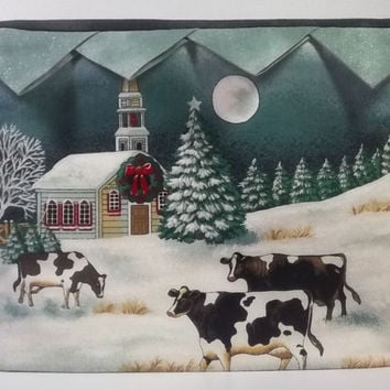 Toaster Cover Cows in Winter
