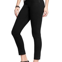 Old Navy Womens The Rockstar Clean Front Cropped Jeans Size 8 Tall - Black jack