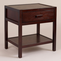 Dark Mahogany Chase Nightstand - World Market