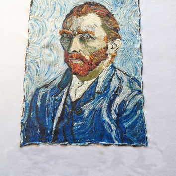 VAN GOGH  T-shirt SELF PORTRAIT  Painting 3d