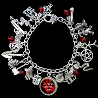 American Horror Story Series Themed Charm Bracelet