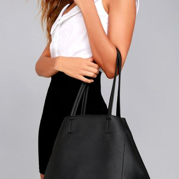Love How You Love Me Black Tote