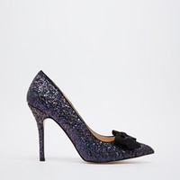 Carvela Chloe Glitter Pumps with Bow