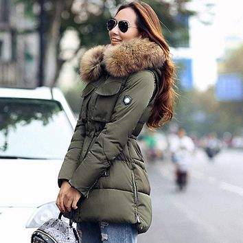 Real Fur Winter Jacket Women's