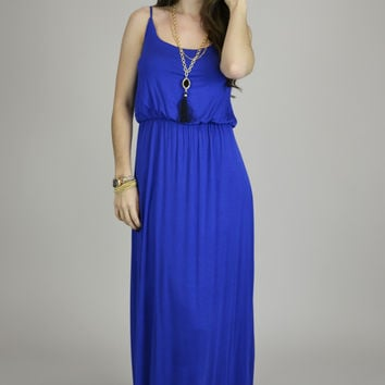 Sugar Rain Adjustable Straps Maxi Dress