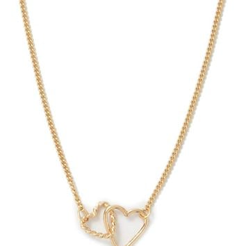 Linked Heart Charms Necklace