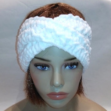 Headband, turban, turban, Soft white, turban headband, knit headband, turban hat, turban headwrap, headwrap