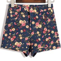 Wildflower High Waisted Shorts - OASAP.com