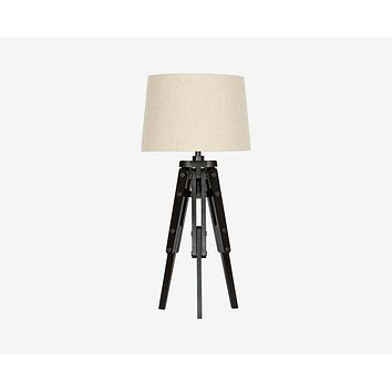 Tripod Wooden Table Lamp