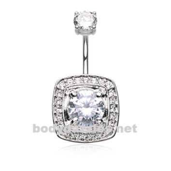 Classic Grand Essentia Belly Button Ring Stainless Steel Body Jewelry