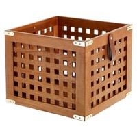 Lattice Wood Large Storage Crate - Threshold™
