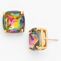 Women's kate spade new york small square stud earrings - Aurora Borealis Multi/ Gold