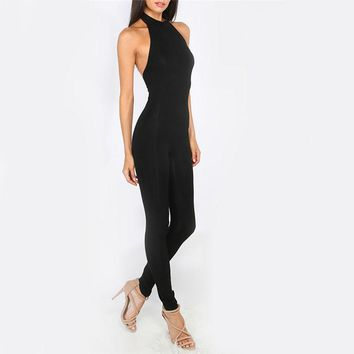 Backless Sexy Sheath Jumpsuit