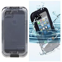 Brand New Waterproof hard case cover for Apple iphone 4 4s 5 5S 5C Black