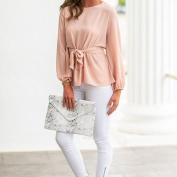 Flattery Will Get You Everywhere Top, Blush