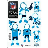 "Siskiyou Carolina Panthers 5""x7"" Family Car Decal Sheet"