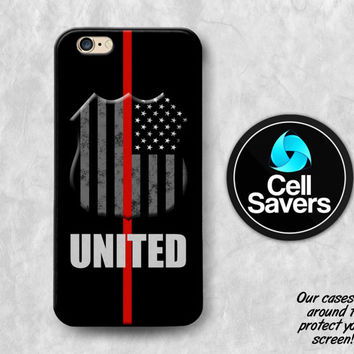 United Red iPhone 6s Case iPhone 6 Case iPhone 6 Plus iPhone 6s Plus iPhone 5c iPhone 5 iPhone SE Case Thin Red Line Fire Firefighter Flag