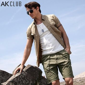 Shorts Men Casual Military Vintage Baggy Short Pants For Men Cotton Casual Pants Khaki New Men Shorts