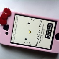 Hello Kitty iPhone 4 Hard Case - Pink with Red Bow