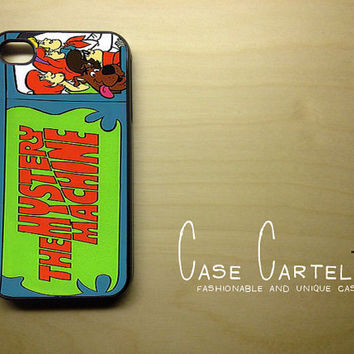 Apple iPhone 4 4G 4S 3D Printed Matte  Case Skin Cover Vintage Mystery Machine Van Scooby Doo Available in Black, Clear White Hard Case.