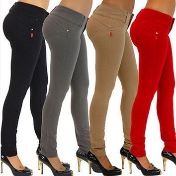 2018    Sexy Skinny Slim Fit Jeans Womens High Waist Jeggings Pencil Pants Trousers