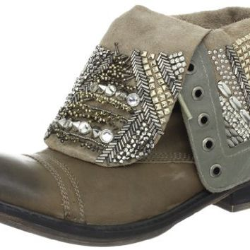 ZiGiny Women's Twyla Boot,Grey Leather,7 M US