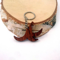 Wooden Peeled Banana Keychain, Walnut Wood, Fruit Keychain, Environmental Friendly Green materials
