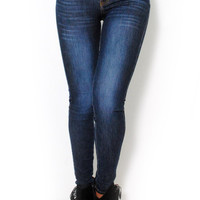 (alu) Machine Super stretch stone wash skinny jeans