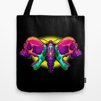 Death's Ahead - Wild Tote Bag by Artistic Dyslexia | Society6