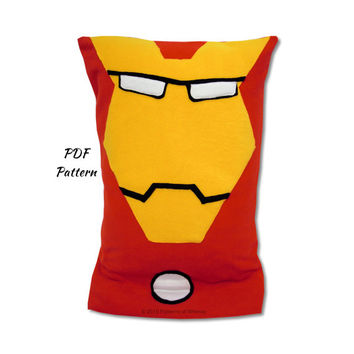 IronMan Fleece Pillowcase Pattern, Marvel Avengers