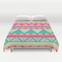 Tropical Tribal Duvet Cover by haleyivers