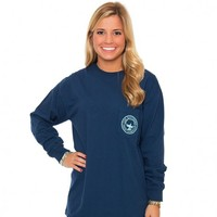 Signature Long Sleeve Logo Tee in Navy by The Southern Shirt Co.