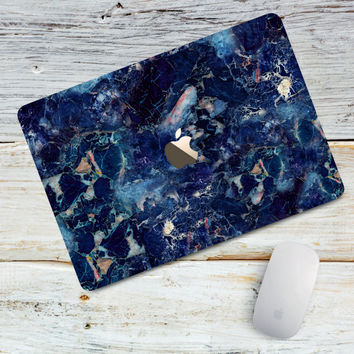 Blue Marble Hard Plastic Macbook Case Macbook 12 Macbook Air 11 13 case Macbook Pro 13 Macbook Pro Touch Bar Macbook Pro Retina 13 15 Marble