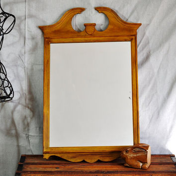 Antique Painted Mirror in Marigold & Chocolate by TheVelvetBranch