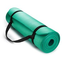 Eurosports 1/2-Inch Extra Thick 72-Inch Long NBR Eco Friendly Non Slip Yoga Mat With a Carrying Strap for Yoga, Pilates and Exercise
