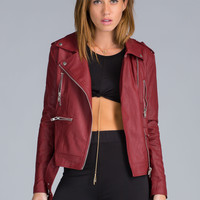 Moto Maven Faux Leather Jacket GoJane.com