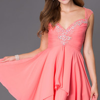 Short Sleeveless Sweetheart Dress