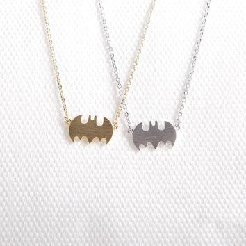 Daisies Gold Silver Little Bat Necklace Batman Necklace For Best Friend Sister Gift