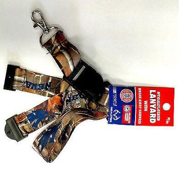 Nevada Wolfpack CAMO RR Deluxe 2-sided Lanyard w/J-Hook Keychain University of
