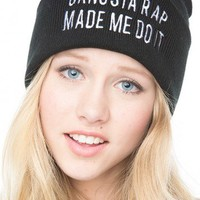 Brandy ♥ Melville |  Gangsta Rap Made Me Do It Beanie - Just In