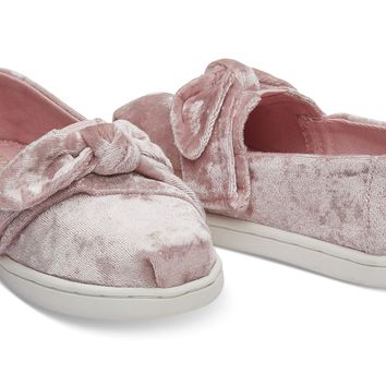 LIGHT FADED ROSE VELVET TINY TOMS CLASSICS