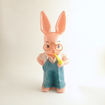 Vintage Knickerbocker Easter Decoration Bunny Rabbit Antique Bank