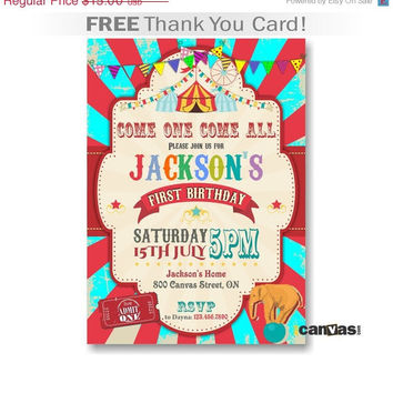 shop carnival circus birthday party on wanelo, Birthday invitations