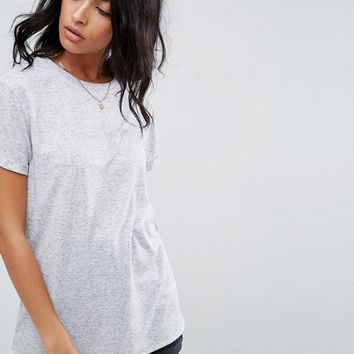 ASOS T-Shirt In Linen Mix Fabric at asos.com