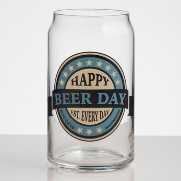 Beer Day Beer Pint Glasses, Set of 6