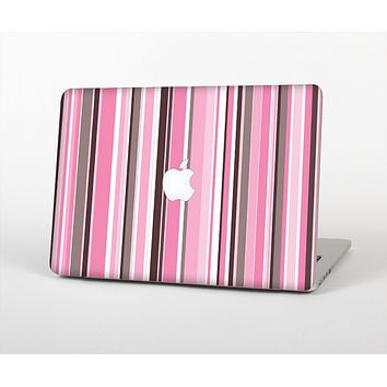 The Pink and Brown Fashion Stripes Skin for the Apple MacBook Air 13""